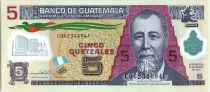 Guatemala 5 Quetzales Général J. Rufino Barrios - Ecole - 2013 (2017) Polymer