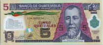 Guatemala 5 Quetzales Général J. Rufino Barrios - Ecole (Canadian Bank Note) - 2011 Polymer