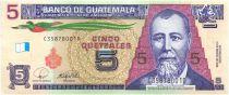 Guatemala 5 Quetzales Général J. Rufino Barrios - Ecole 2008