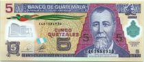 Guatemala 5 Quetzales Général J. Rufino Barrios, Ecole - 2010