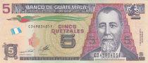 Guatemala 5 Quetzales J. Rufino Barrios - 2014 - UNC