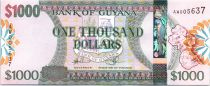 Guayana 1000 Dollars Emblemas - Mapa de la isla - Banco de Guyana - 2006