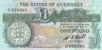 Guernesey 1 Pound  ND2009 - Daniel de Lisle Brock - Market square scene of 1822 2nd