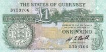 Guernesey 1 Pound  ND2009 - Daniel de Lisle Brock - Market square scene of 1822 3rd