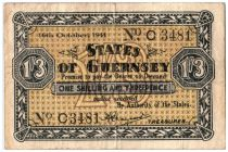 Guernesey 1 Shilling 3 Pence 3 Pence, Black and Yellow - 1941