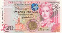 Guernesey 20 Pounds  Elisabeth II - Armistice 1914-1918