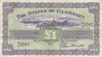 Guernsey 1 Pound, View of Guernsey - 1957 - P.43b