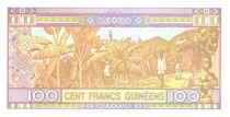 Guinea 100 Francs Young woman - Banana harvesting 2015