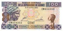 Guinea 100 Francs Young woman - Banana harvesting