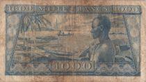 Guinea 1000 Francs Sékou Touré - Boats at shore - 1958 - F27
