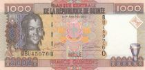 Guinea 1000 Francs Woman - Bauxite - Serial BU - 2006