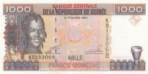 Guinea 1000 Francs Woman - Bauxite - Serial KB - 1998