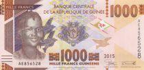 Guinea 1000 Francs Young woman - Bauxite mine - 2015