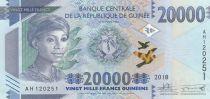 Guinea 20000 Francs African woman - Dam - 2018 - UNC - P. 49