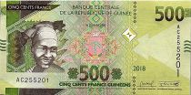 Guinea 500 Francs African woman - Mine - 2018 - UNC - P. new