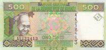 Guinea 500 Francs Woman - Minehead - Serial AX - 2006