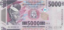 Guinea 5000 Francs African woman - Dam 2015