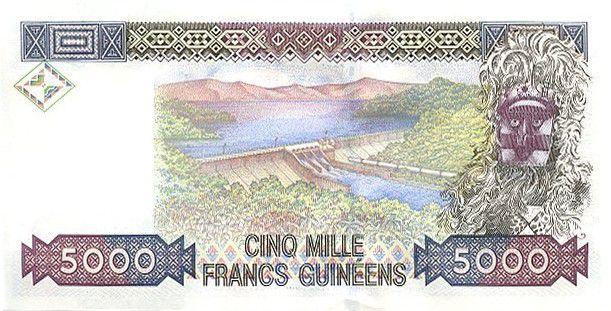 Guinea 5000 Francs Woman - Dam