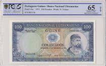 Guinea Portuguesa 100 Escudos 1971 - Nuno Tristao - PCGS 65 OPQ