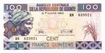 Guinée 100 Francs Jeune Femme - Bananeraie 2015
