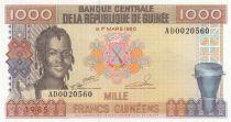 Guinée 1000 Francs 1985 - Femme - Bauxite