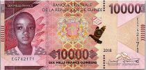 Guinée 10000 Francs Enfant et colombes - 2018 (2019)- Neuf