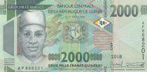 Guinée 2000 Francs Homme et colombes - 2018 - Neuf