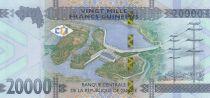 Guinée 20000 Francs - Femme africaine - Barrage - 2018 - Neuf