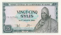 Guinée 25 Sylis 1980 - S. Behanzin - Bouvier