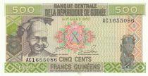 Guinée 500 Francs 1985 - Femme, Mine