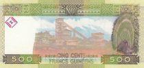 Guinée 500 Francs Femme - Exploitation minière - Série AX - 2006