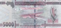 Guinée 5000 Francs Femme africaine - Barrage 2015