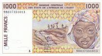 Guinée Bissau 1000 Francs femme 1998 - Guinée Bissau