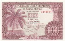 Guinée Equatoriale 100 Pesetas Bananier - 1969