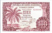 Guinée Equatoriale 100 Pesetas Guineanas Guineanas, Bananier - 1969