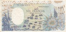 Guinée Equatoriale 1000 Francs - 1985 - Fauté manque partiel impression