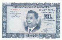 Guinée Equatoriale 1000 Pesetas Francisco Macias - 1969