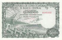 Guinée Equatoriale 500 Pesetas Exploitation forestière - 1969