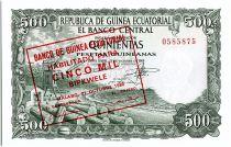 Guinée Equatoriale 5000 Bipkuele / 500  Pesetas, Exploitation forestière - 1980