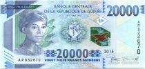 Guinée P.49 20000 Francs, Femme africaine - Barrage - 2015