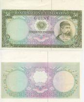 Guinée Portugaise 50 Escudos Nuno Tristao - Femme et Bateaux - 1971