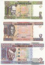 Guinée Série de 3 billets année 1998