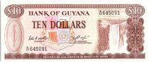 Guyana 10 Dollars, Cascade Kaieteur, Usine - 1983