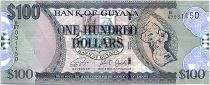 Guyana 100 Dollars Carte de Guyane - Eglise - 2019 - Neuf - P.36d