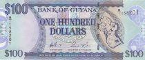 Guyana 100 Dollars Carte du Guyana - Eglise - 2006