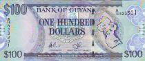 Guyana 100 Dollars Map of Guyana - Church - 2008