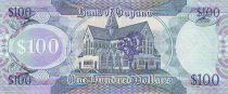 Guyana 100 Dollars Map of Guyana - Church - 2008