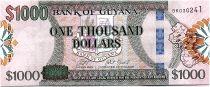 Guyana 1000 Dollars  Carte de l\'île - Banque de Guyana - ND (2019) - Neuf