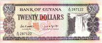 Guyana 20 Dollars, Cascade Kaieteur, Chantier Naval - 1989