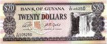 Guyana 20 Dollars Cascade Kaieteur, Chantier Naval - 2019 - Neuf - P.30g